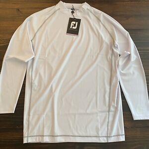 FootJoy Men's Large Golf Shirt White Thermal Base Layer Long Sleeve Wicking L