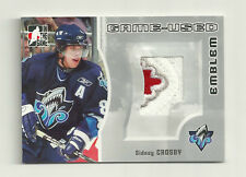 2005-06 In The Game Sidney Crosby Game Used 3 Color Emblem Silver #/30 CANADA