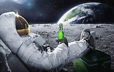 A3 Carlsberg Moon Earth 1 POSTER ART PRINT BUY2GET1FREE - FREE UK POSTAGE/BEER