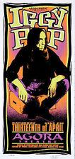 Iggy Pop Poster Agora Signed Original Arminski Silkscreen Beauty