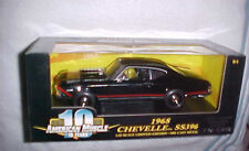2001 RC ERTL AMERICAN MUSCLE 1968 CHEVELLE SS 396, SERIALIZED CHASSiS 1/18 SCALE