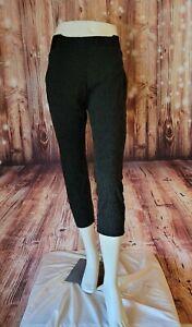 One 5 One~Women's Size XL Stretch Waistband Leggings Geometric Pattern Black