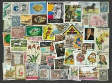 Colombia 200 all different stamps collection