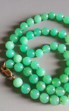 Gorgeous Semi translucent Green Australian Chrysoprase Beaded Necklace