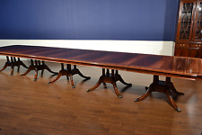Leighton Hall Large Banquet Traditional Mahogany Dining Table 20 ft.