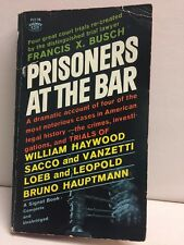Prisoners At The Bar Francis Busch Paperback 1962 New American Library