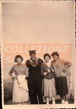 FOTO MILITARE DELLA REGIA MARINA CON RAGAZZE -  C9-88