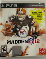 Madden NFL 12 PS3 Sony PlayStation 3 Football Video Game Complete & Tested