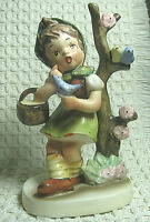 Vintage NAPCO Ceramic Figurine Spring Time AH1D Made in Japan Hand Painted