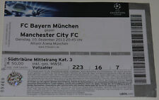 OLD TICKET CL Bayern Munchen Germany - Manchester City FC England