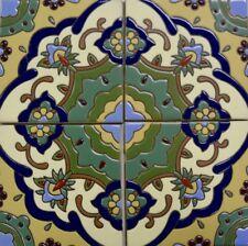 Antiguo Mexico (Old Mexico) High Relief Talavera Tile