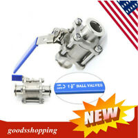 Sanitary Stainless Steel KF-40 Vacuum Ball Valve For Dairy Products