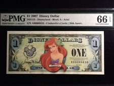 2007 Ariel  Disney Dollar A series PMG 66 High Grade! DIS 125
