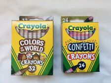 New 2020 Crayola Colors Of The World Crayons + Confetti Crayons (set of 2)