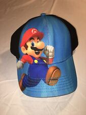Super Mario Youth SnapBack Hat - Blue & Black - Nintendo 2015