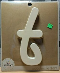 KidKraft Wooden Letters -- SOLID WHITE T -- { t } -- New in packaging.