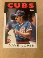 1986 Topps #125 Dave Lopes-CUBS