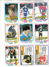 LOT (19) 1981-82 TOPPS HOCKEY CARDS SCORING LEADERS + GAINEY,SMITH,ETC - EX/EXNM