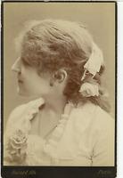 Bacard Fils, Paris, Actrice vaudeville Lincelle  Vintage albumen print. Carte ca