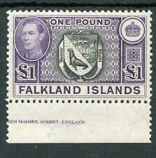 Falkland Islands 1938-51 £1 SG163 MLH cat £130