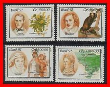 BRAZIL 1992 LANGSDORF EXPEDITION MNH CV$4.35 ANIMALS, FLOWERS, INDIANS, ROSSICA