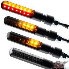 Motorrad LED Lauflicht Blinker Sequentiell mit Rücklicht Blade schwarz getönt