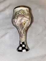 LANEY K OXMAN MULTIMEDIA ARTIST Art Pottery Wine Goblet Art Nouveau 1982