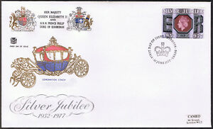 Silver Jubilee Commemorative First Day 'Stuarts' Cover 1977 - stamp SG1034