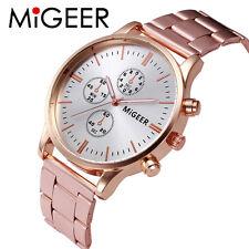 MIGEER Edelstahl Sport Armbanduhr Damenuhr Analog Quarz Mode Casual Watch 2017