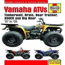 1987-2009 Haynes Yamaha ATVs: Timberwolf, Bruin... Hardback Repair Manual