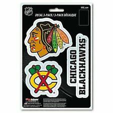 Chicago Blackhawks Set of 3 Die Cut Decal Stickers