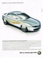 PUBLICITE ADVERTISING 045  2005  ALFA ROMEO   ALFA 159 berline Premium