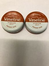 Vaseline Lip Therapy Balm Petroleum Jelly 20g Pocket Size Pots  x 2 coco butter