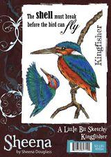 New Sheena Douglass Temptingly Tropical Rubber Stamp Kingfisher