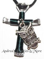 Disciples Cross Horseshoe Nail Necklace w/ Owl charm