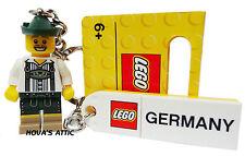 LEGO LEDERHOSE - DEUTSCHLAND SCHLÜSSELANHÄNGER MINIFIGUR NEU