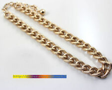*Forever21* Unisex Gold Tone 12mm Thick Chain Short Necklace J16