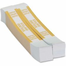 Coin-Tainer Currency Strap 10 000 Dollars 1000/BX Yellow/Kraft 410000