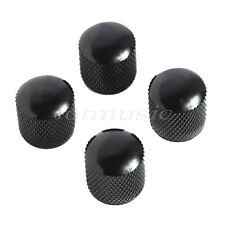 4pc Black Metal Dome Knob For Fender Strat Tele body replacement