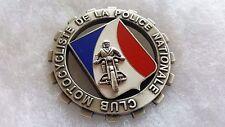 """Une Médaille De Table """"Club Motocycliste Police Nationale"""" Militaria 6,8 cm ."""