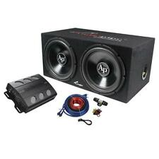 "Audiopipe Super Bass Combo pack 600W Max Dual 12"" Loaded Box Amp Kit APSB1299PP"