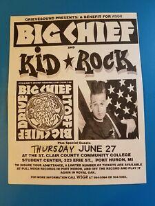 Big Chief/Kid Rock-Rare 1991 Original Concert Flyer-Port Huron MI-Detroit