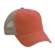 4c925b69259c Wholesale 12 Blank Trucker Hat Tennessee Orange  Khaki Cotton Mesh 5panel