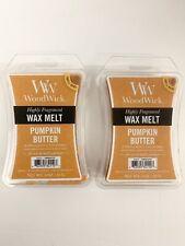 2 Pumpkin Butter WoodWick Hourglass 3 oz Wax Melt, free USA shipping