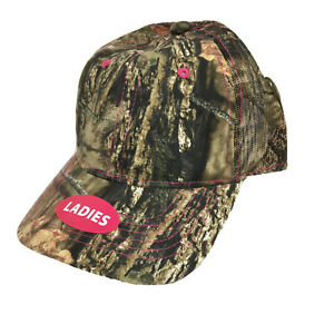 Real Tree and Mossy Oak Caps Lot of 6 Camo Women's Hunting Hook Loop Back New
