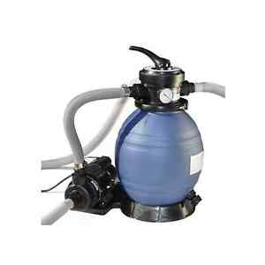 Swimline HydroTools 12 Inch Above Ground Swimming Pool Sand Filter Pump System