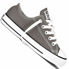 Kids's Converse Chuck Taylor All Star Season Ox Low Rise Trainers in Grey UK 4 Infant / EU 20
