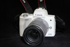 Canon EOS M50 weiß + Objektiv EF-M18-150mm IS STM silber