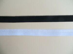 2 m  Abschluss Gummi  ,  Ziergummi , Gummiband ,14 mm, Weiß, Schwarz m /1,30 €