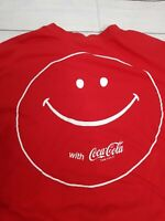 Coca Cola Classic Coke Size Small Long Sleeve Soda Mens T-shirt Have Coke Smile
